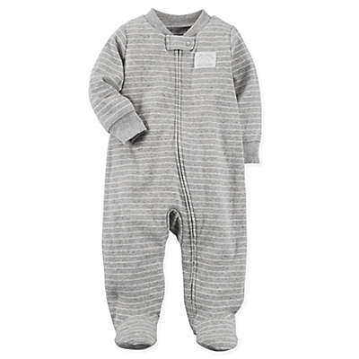 carter's® Zip-Up Cloud Sleep & Play Footie in Grey