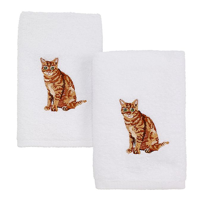Alternate image 1 for Avanti Cat Hand Towels (Set of 2)