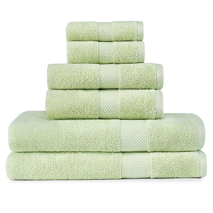 Alternate image 1 for Tommy Bahama® Cypress Bay 6-Piece Towel Set in Pastel Green