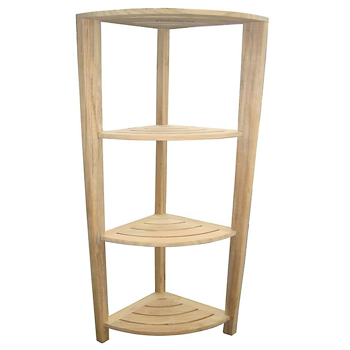 Alternate image 1 for Haven™ Teak Corner Bath Tower