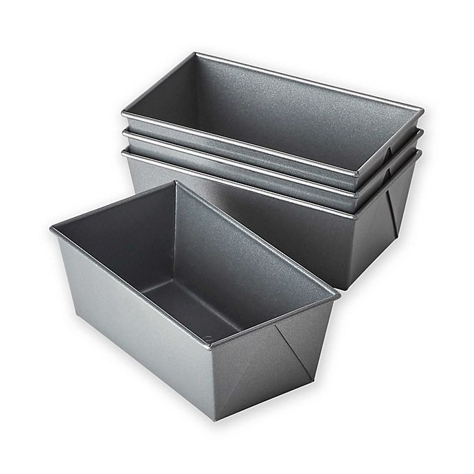 Alternate image 1 for Chicago Metallic™ Nonstick Mini Loaf Pans with Armor-Glide Coating (Set of 4)