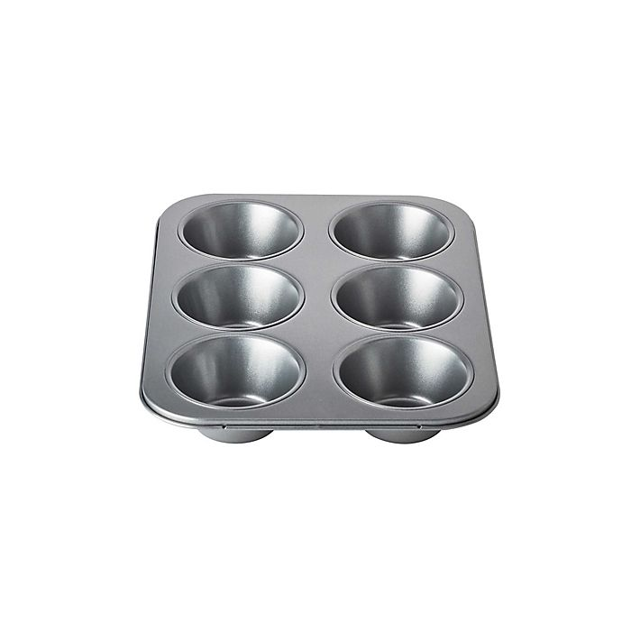 Alternate image 1 for Chicago Metallic™ 6-Cup Nonstick Muffin Pan with Armor-Glide Coating