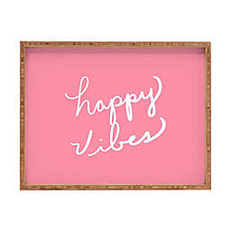 Deny Designs Happy Vibes Rose by Lisa Argyropoulos Large Rectangular Serving Tray