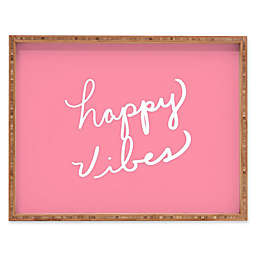 Deny Designs Happy Vibes Rose by Lisa Argyropoulos Rectangular Serving Tray