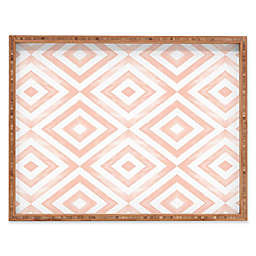 Deny Designs Watercolor Diamonds by Little Arrow Design Co. Rectangular Serving Tray