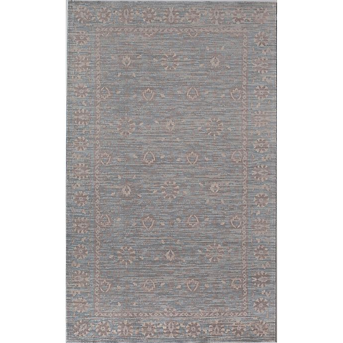 Alternate image 1 for Rugs America Wilshire Floral Border 2' x 4' Accent Rug in Blue
