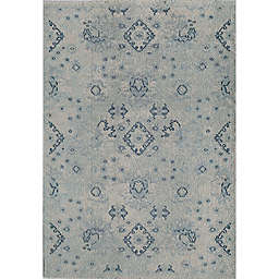 Rug America Beverly Abstract Loomed 7'10 x 9'10 Area Rug in Blue