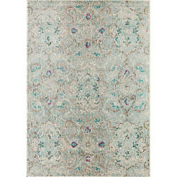 Rugs America Beverly 7'10 x 9'10 Loomed Area Rug in Blue