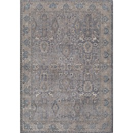 Rugs America Estelle Abstract Loomed Area Rug in Grey/Ivory