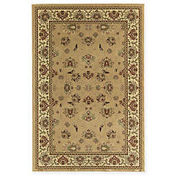 Rugs America New Vision Kashan Moss 3'11 x 5'3 Area Rug in Pink