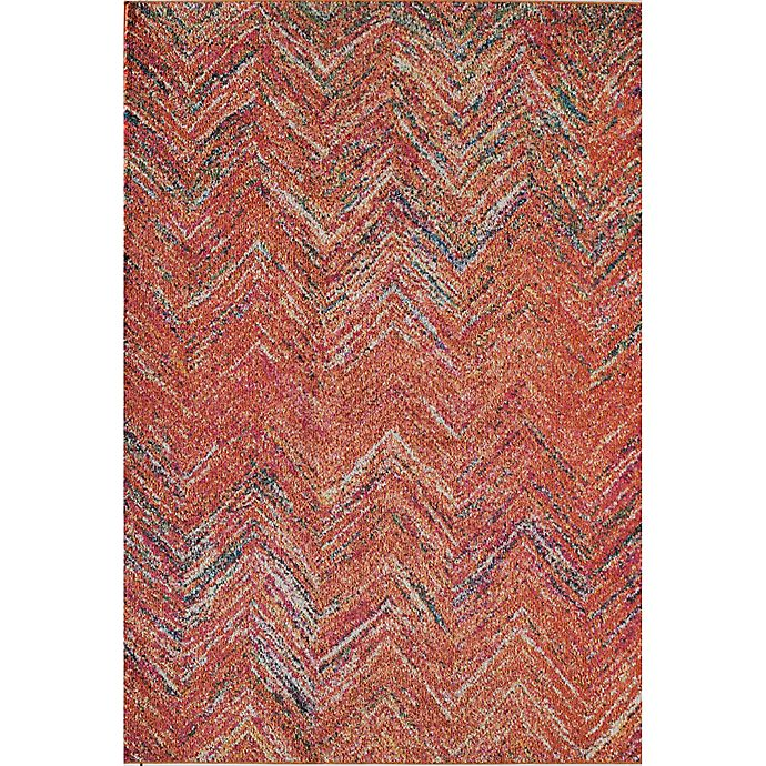 Alternate image 1 for Rugs America Beverly Abstract Loomed 7'10 x 9'10 Area Rug in Rust