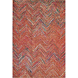 Rugs America Beverly Abstract Loomed 7'10 x 9'10 Area Rug in Rust