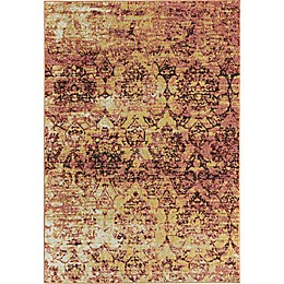 Rugs America Beverly Abstract Loomed Accent Rug in Pink