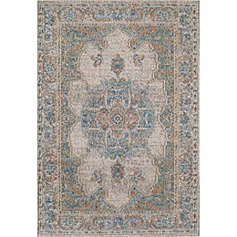 Rugs America Beverly Loomed Accent Rug in Ivory/Blue