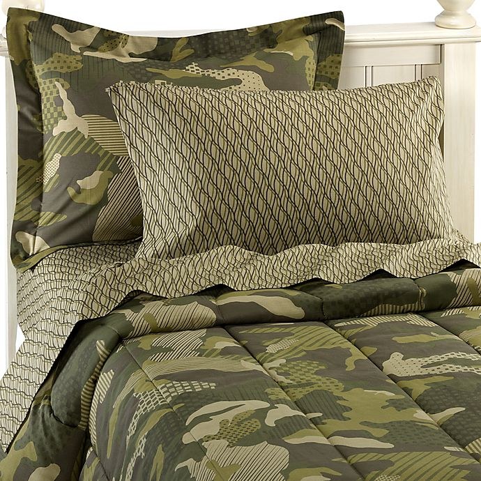 Alternate image 1 for Geo Camo Complete Twin Bed Ensemble