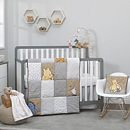 Disney® Classic A Day With Pooh 3-Piece Crib Bedding Set in Taupe