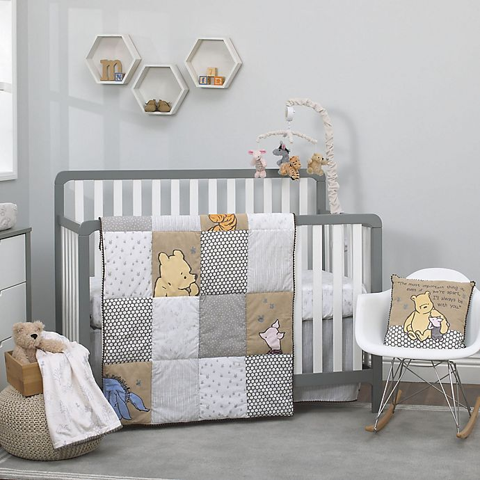 Alternate image 1 for Disney® Classic A Day With Pooh 3-Piece Crib Bedding Set in Taupe