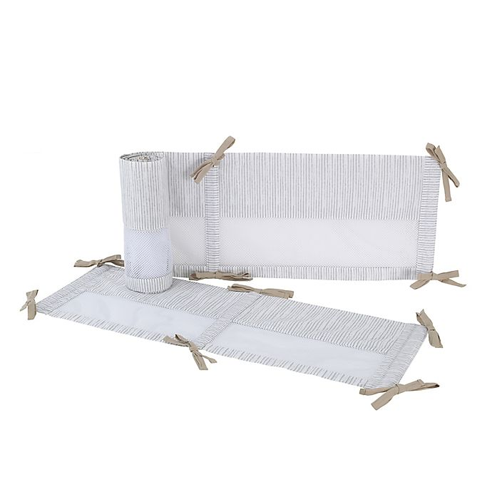 Alternate image 1 for Disney® Classic A Day With Pooh 4-Piece Secure-Me Crib Liner in White