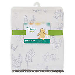 Disney® Classic A Day With Pooh Plush Blanket in Grey