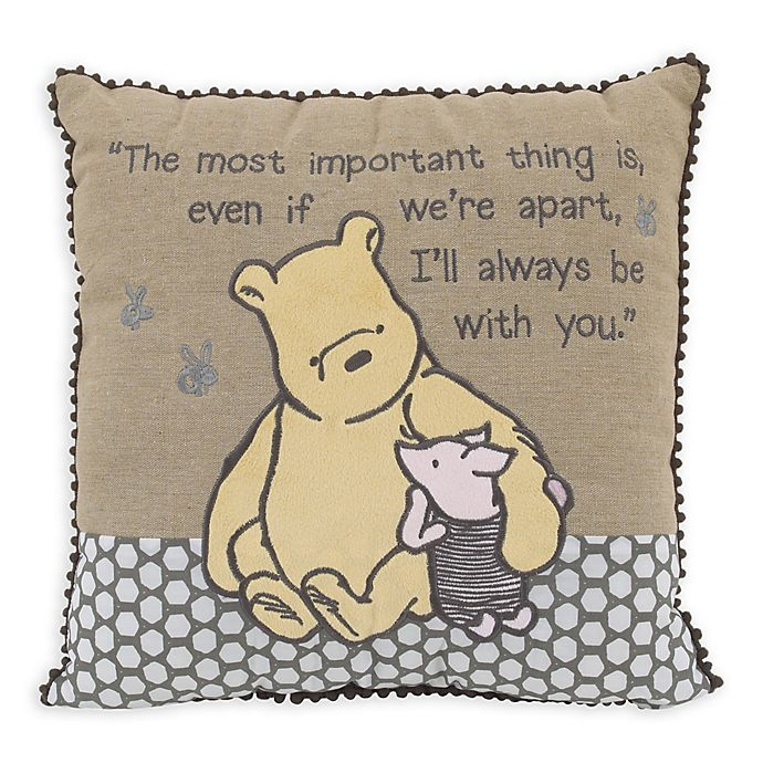 Alternate image 1 for Disney® Classic A Day With Pooh Throw Pillow in Taupe