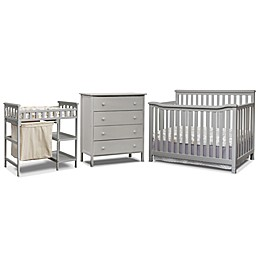 Sorelle Palisades 3-Piece Room In A Box Nursery Furniture Collection in Grey