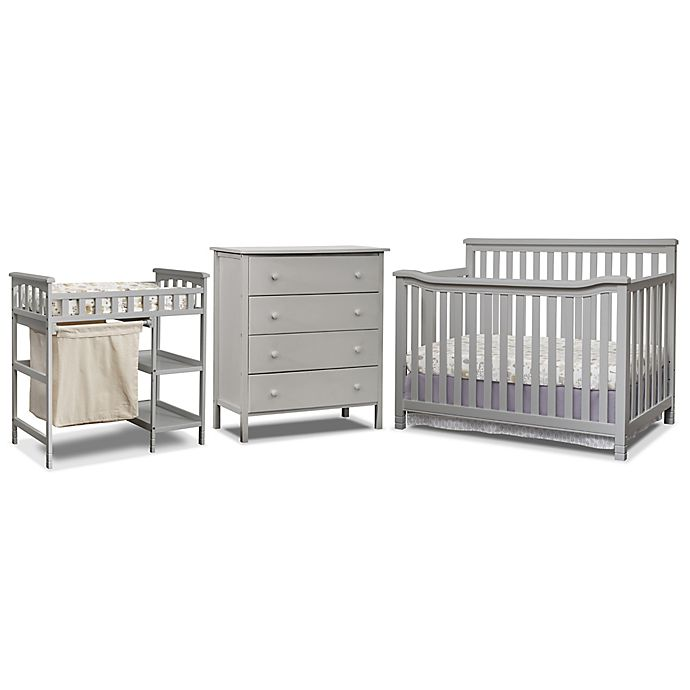 Alternate image 1 for Sorelle Palisades 3-Piece Room In A Box Nursery Furniture Collection in Grey