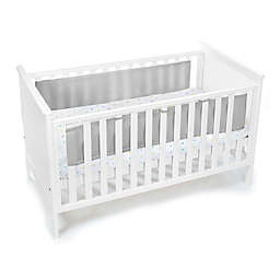 BreathableBaby® Classic Solid End Breathable® Mesh Crib Liner in Grey