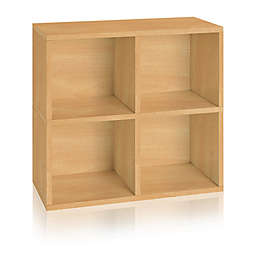 Way Basics Eco 4-Cubby Bookcase Organizer