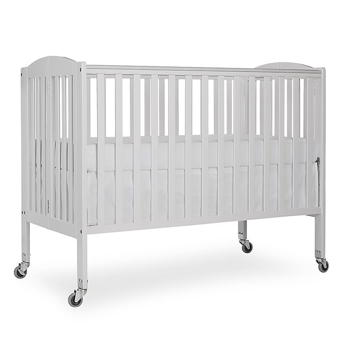 Alternate image 1 for Dream On Me Folding Full Size Crib in White