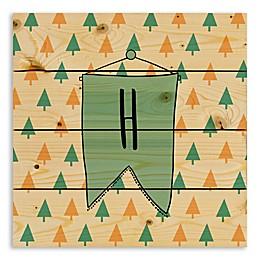 Designs Direct Flag Pendant Monogram Wooden Wall Art