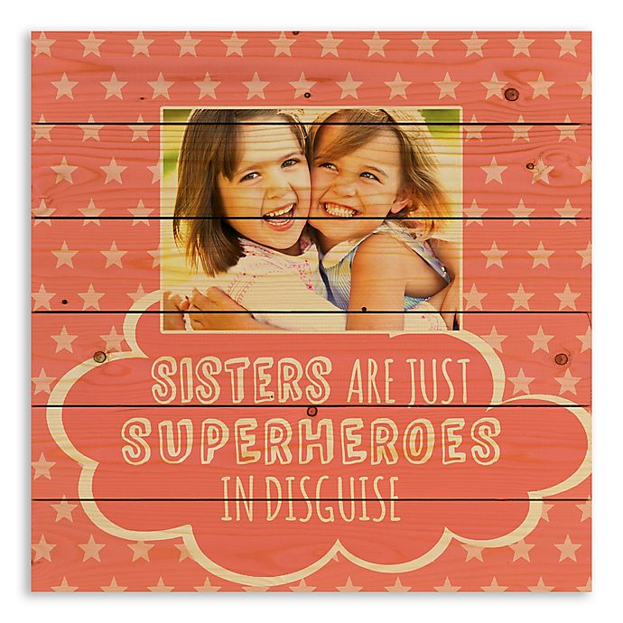 Alternate image 1 for Designs Direct Sister are Superheroes Wooden Wall Art