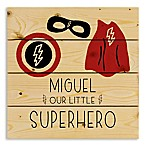 Designs Direct Our Little Superhero Wooden Wall Art