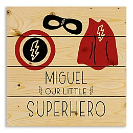 Designs Direct Our Little Superhero Wooden Wall Art