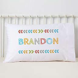 Stencil Boy Name Pillowcase