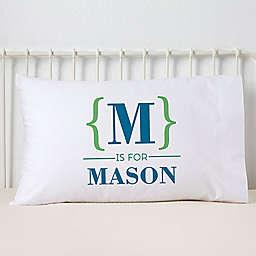 Name Bracket Pillowcase