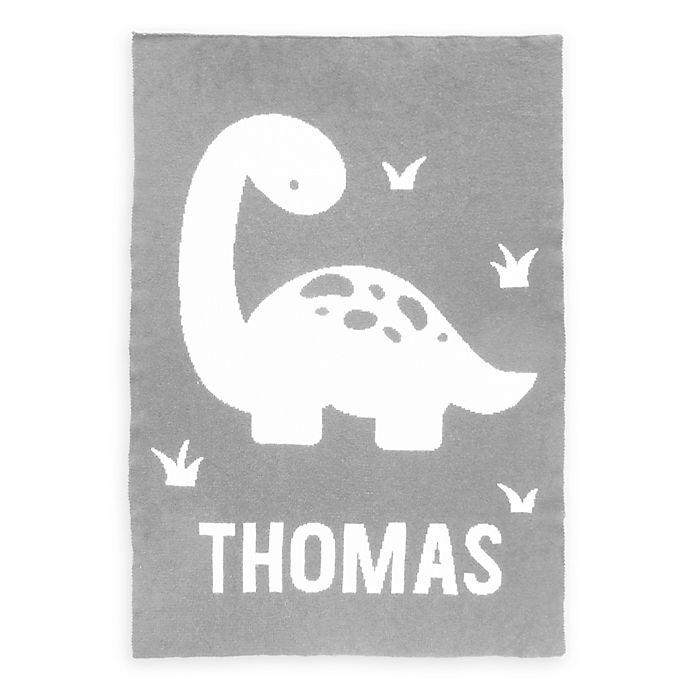 Alternate image 1 for Tadpoles™  by Sleeping Partners Dinosaur Knit Baby Blanket in Grey