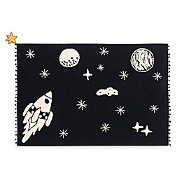 Lorena Canals Universe 4'7 x 6'7 Area Rug in Black/Natural