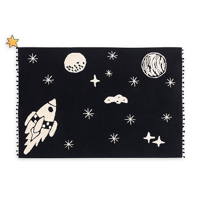 Alternate image 1 for Lorena Canals Universe 4'7 x 6'7 Area Rug in Black/Natural