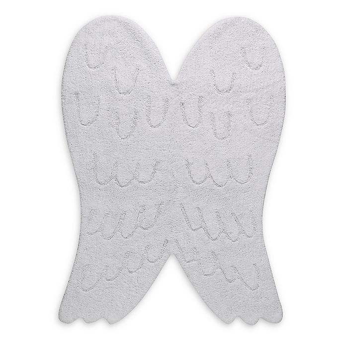 Alternate image 1 for Lorena Canals Sihouette Wings 4' x 5' Area Rug in White