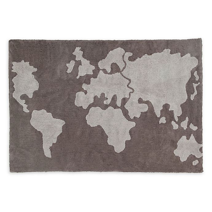 Alternate image 1 for Lorena Canals World Map 4' x 6' Area Rug in Grey