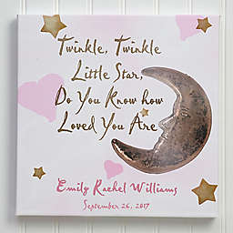 """""""Twinkle Twinkle"""" 8-Inch Square Canvas Wall Art"""
