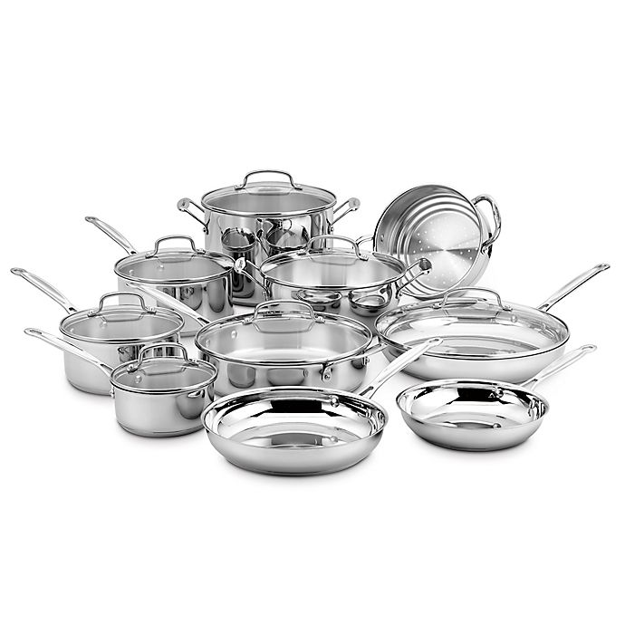 Alternate image 1 for Cuisinart® Stainless Steel 17-Piece Cookware Set