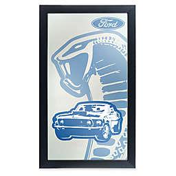 Ford 26-Inch x 15-Inch Cobra Framed Logo Mirror in Blue