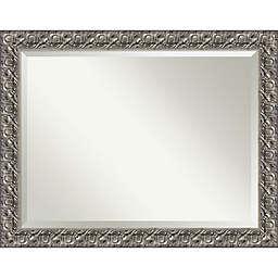 Amanti Art Luxor Wall Mirror in SIlver