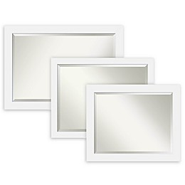 Amanti Art Corvino Bathroom Mirror in White