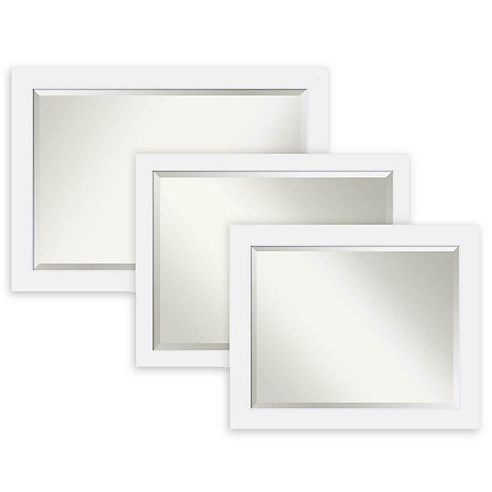 Amanti Art Corvino Bathroom Mirror in White | Bed Bath & Beyond