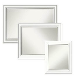 Amanti Art Craftsman Bathroom Mirror in White