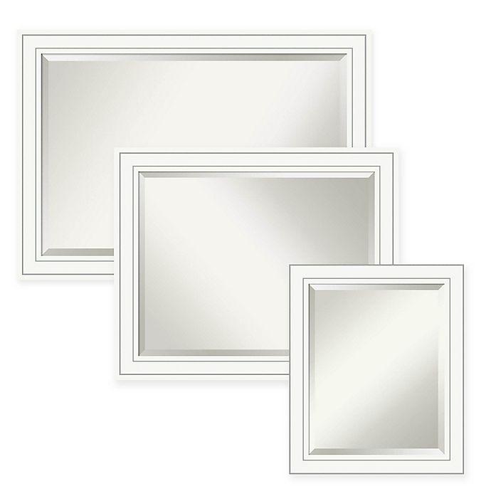 Alternate image 1 for Amanti Art Craftsman Bathroom Mirror in White