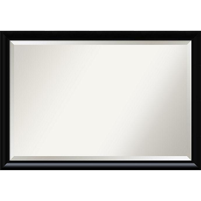 Alternate image 1 for Amanti Art Steinway Rectangular Mirror in Black