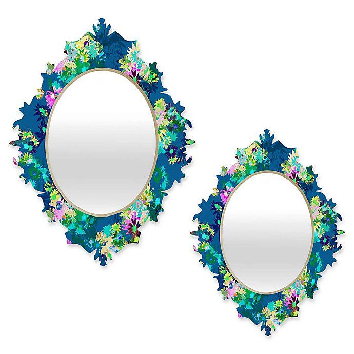 Alternate image 1 for Deny Designs® Bel Lefosse Design Multicolor Oval Jardim Baroque Mirror